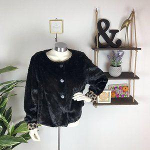 Torrid Faux Fur Cropped Jacket